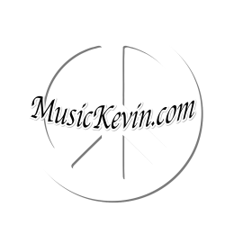 White Peace Symbol With Black MusicKevin.com cross The Middle